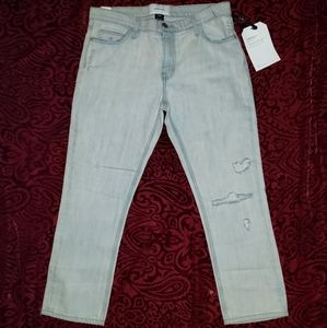 Current Elliott NWT 30 The Cropped Straight Jeans
